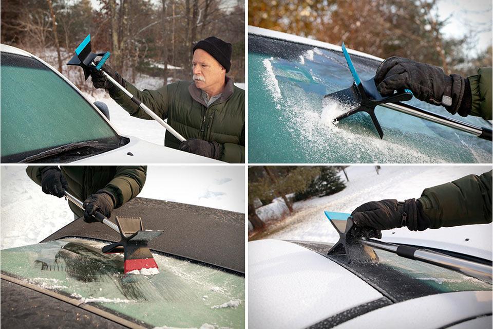 Автомобильный скребок для льда Quirky Thor с двумя лезвиями