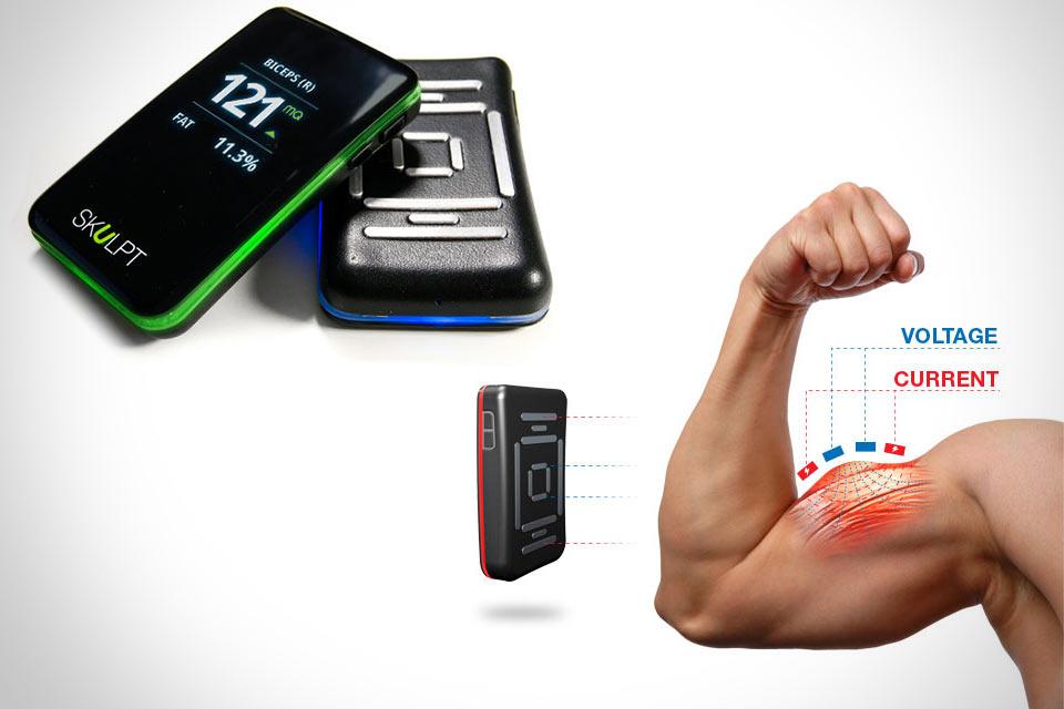 Портативный датчик Skulpt Aim для измерения количества жира в отдельных мышцах