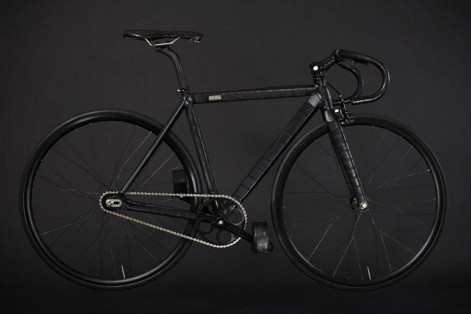 Отделанный крокодиловой кожей велосипед Fixie Bicycle