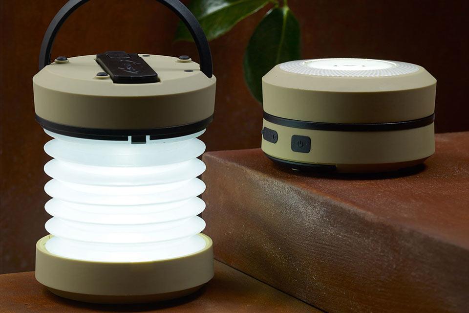 Раскладной фонарь Wind-Up Accordion Lantern с ручным приводом