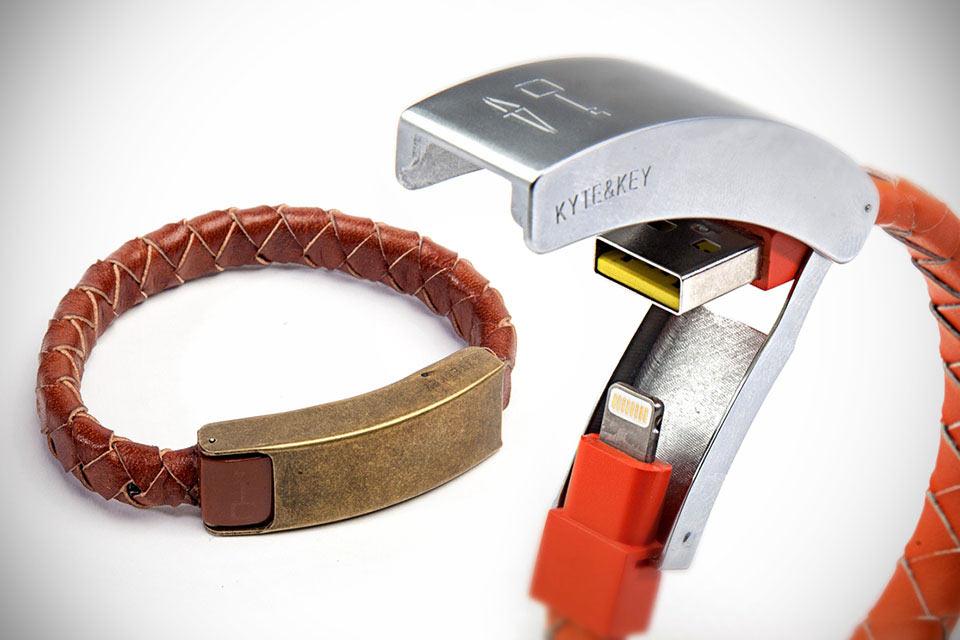 Зарядный кабель-браслет Kyte&Key Cabelet из кожи