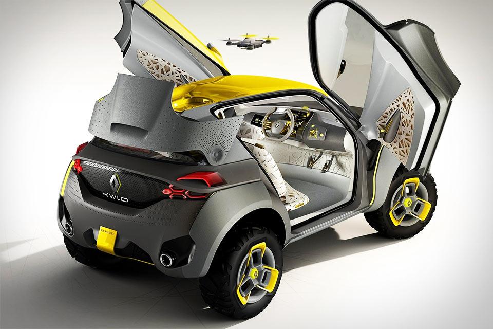 Автомобиль Renault Kwid с летающим дроном-компаньоном