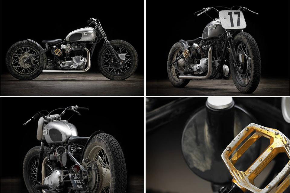 Кастомный боббер Triumph T120, созданный по заказу профессионального гонщика BMX