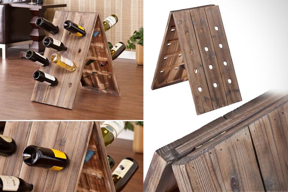 Деревянный держатель 24-Bottle Riddling Rack для двух дюжин бутылок вина