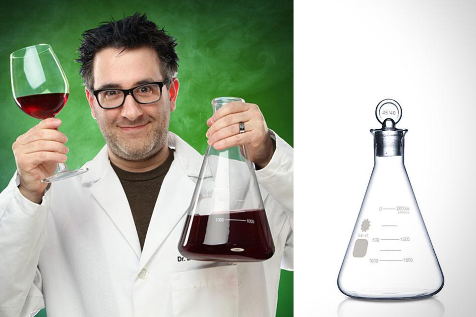 Графин Erlenmeyer Flask Spirit в форме колбы Эрленмейера