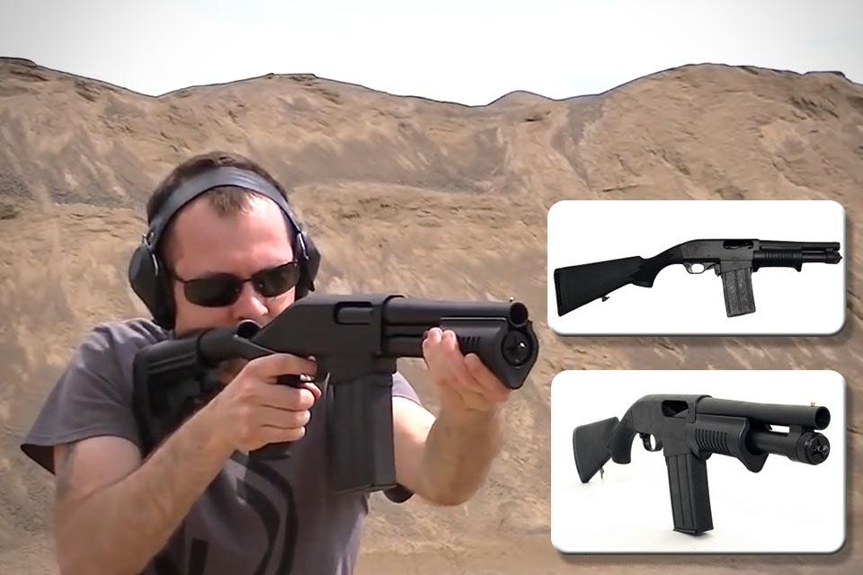 5-зарядный дробовик Dominion Arms Grizzly 8.5 Magfed Shotgun с коробчатым магазином
