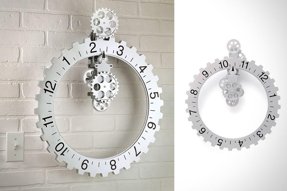 Настенные часы-шестеренка Hands Free Gear Clock