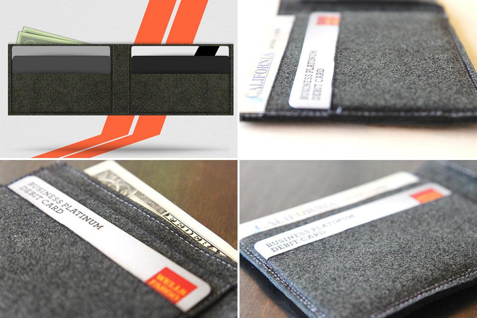 Смесь минималистичного кошелька и бумажника Trofeo TwinFold