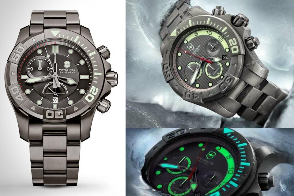 Юбилейные часы Victorinox Dive Master 500 Anniversary Chronograph с титановым корпусом