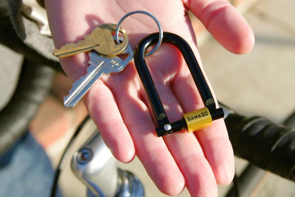 Миниатюрный замок U-Lock для связки ключей