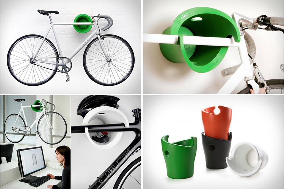Система настенного крепежа Cycloc для велосипедов