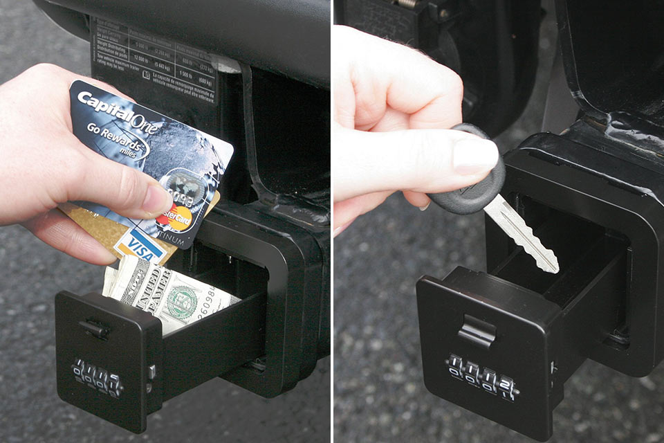 Внешний автомобильный мини-сейф HitchSafe