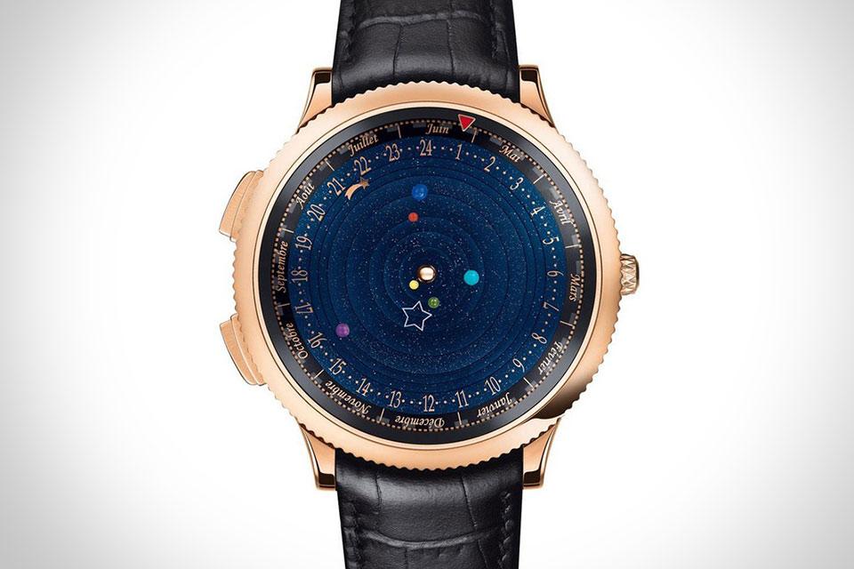 Наручные часы Van Cleef & Arpels Midnight Planetarium с действующей моделью солнечной системы