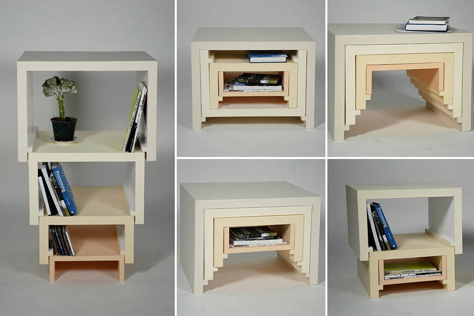 Стол-шкаф-матрешка Stacking Nesting Table