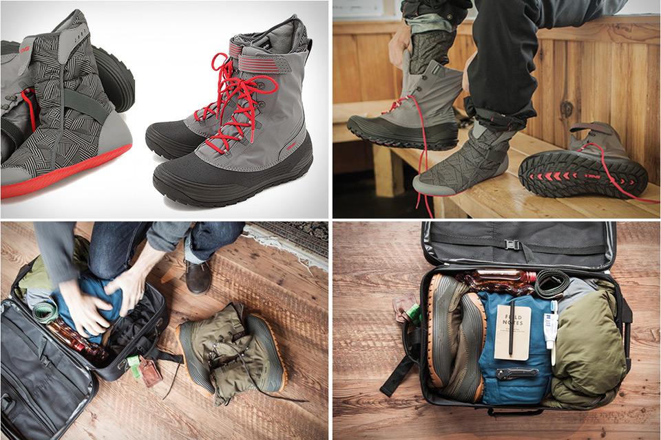 Сверхлегкие зимние ботинки Teva Chair 5 Print WP, которые складываются вдвое