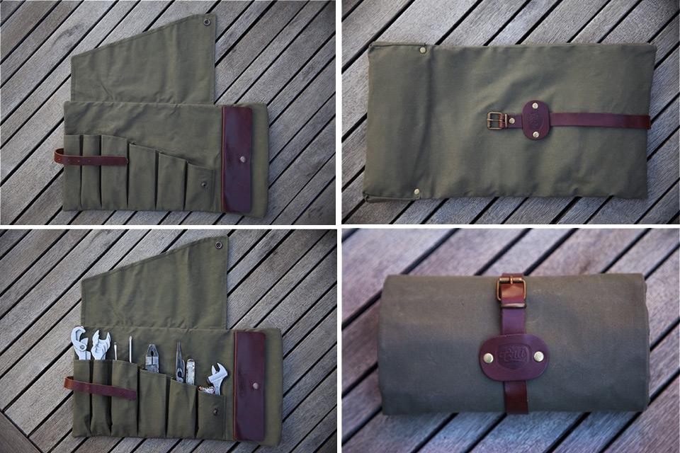 Чехол для инструментов Roll Tool из кожи и вощеной парусины