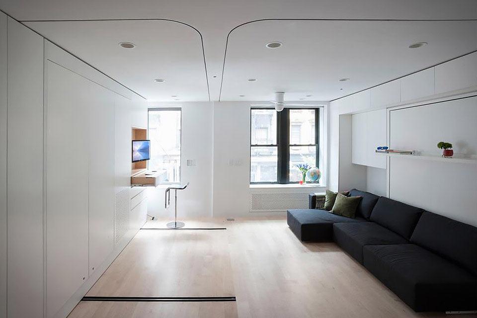 Трансформирующаяся квартира-однушка Transforming Micro Apartment