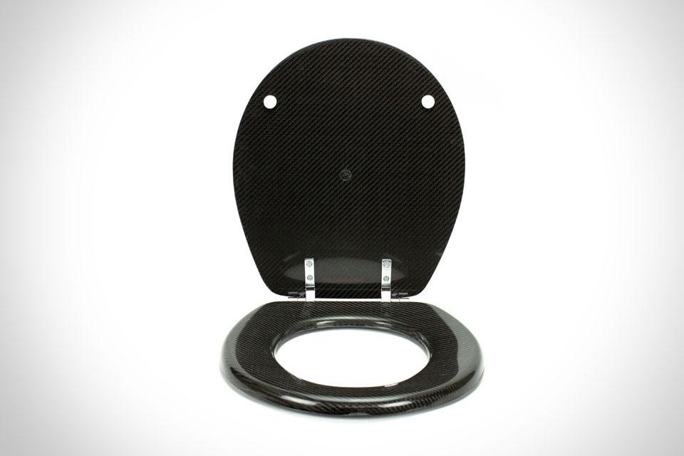 Сиденье из углеродного волокна Carbon Fiber Toilet Seat для унитаза