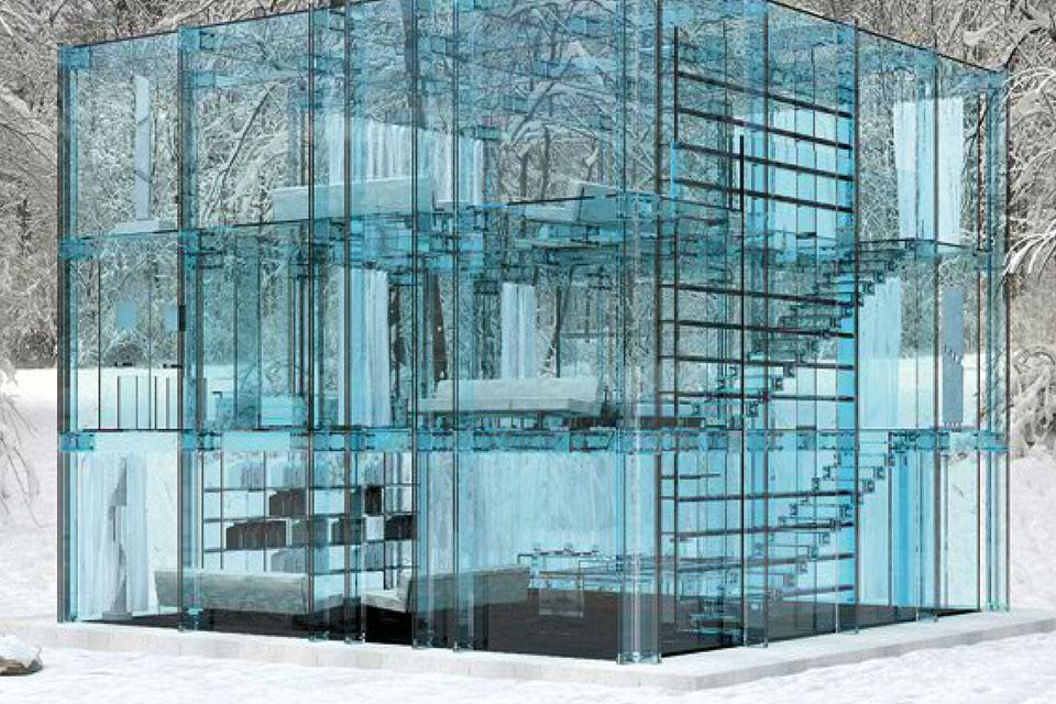 Стеклянный дом Santambrogio Milano Glass House