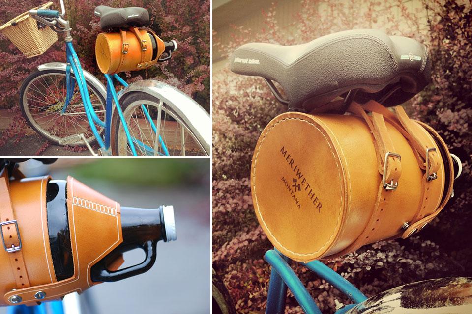 Велосипедный чехол Leather Bike Growler Carrier для пивной кеги