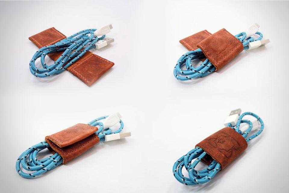 Кожаный органайзер для кабелей Orion Leather Cable