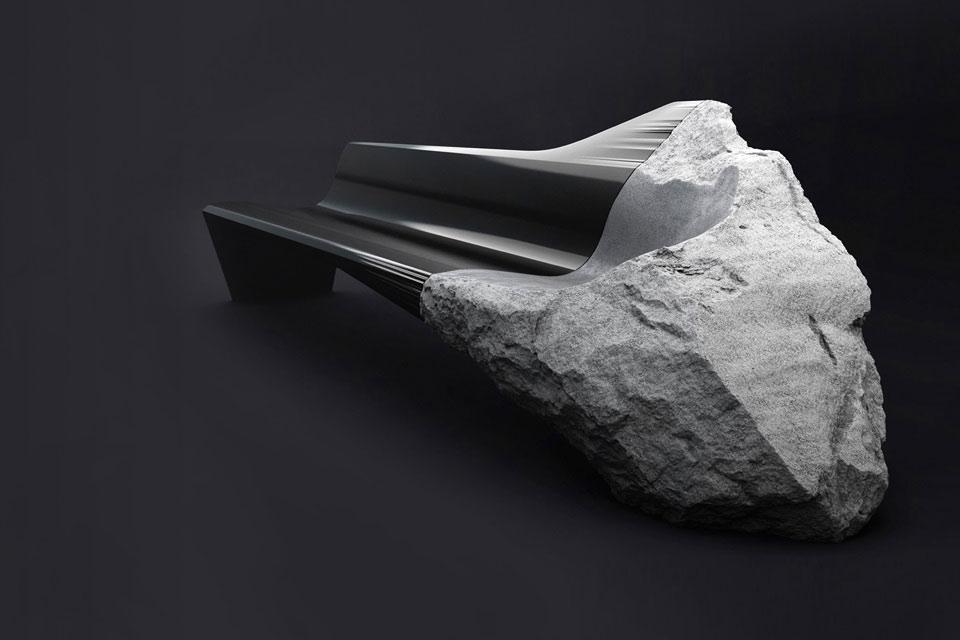 Софа Peugeot ONYX из вулканического камня и карбона