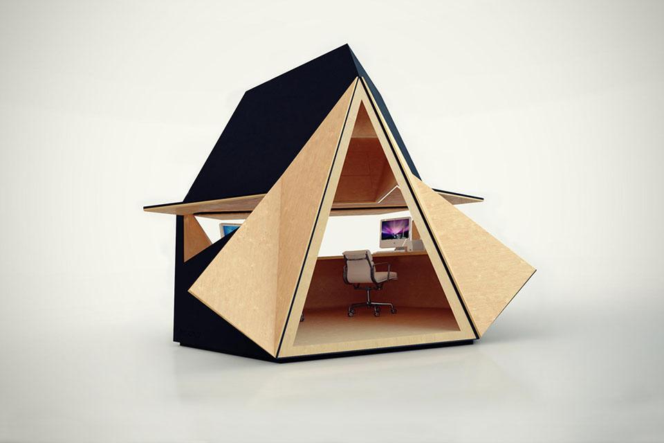 Модульное пространство Tetra Shed для работы и жизни