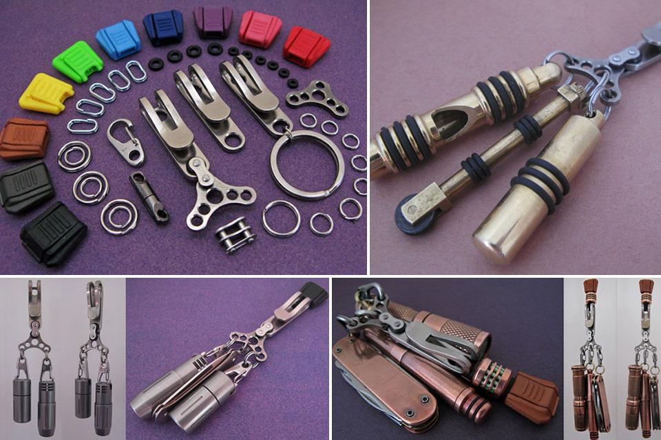 Трансформирующееся кольцо The Mini-D для брелков, ключей и EDC-мелочовки