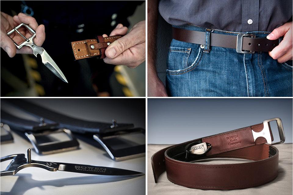 Пояса от Bowen Knife Company со встроенным ножом и секретным карманом