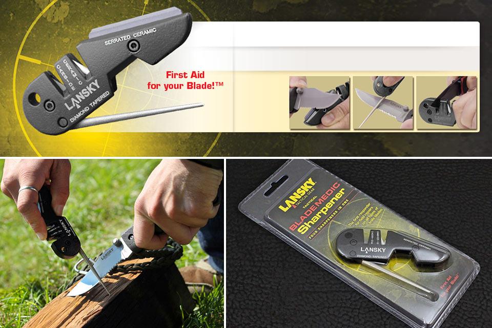 Компактная универсальная точилка Lansky BladeMedic для ножей