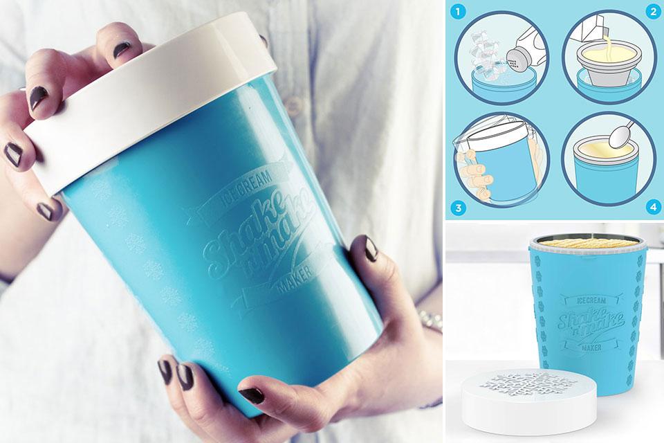 Ручной агрегат Shake N' Make для готовки мороженого за три минуты