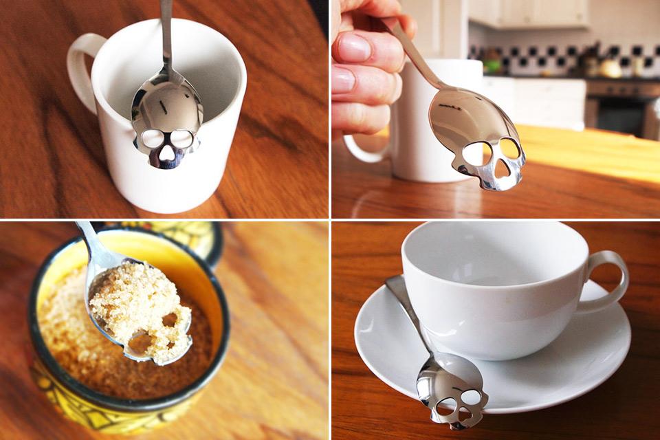 Чайная ложка Sugar Skull Spoon в форме черепа