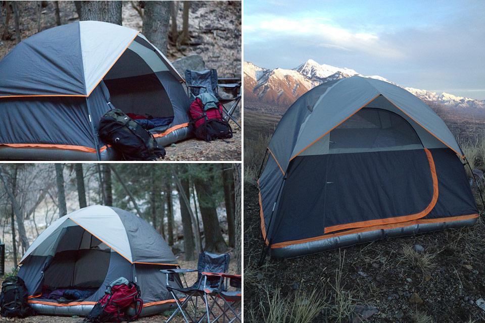 Туристическая палатка Aesent с надувной основой