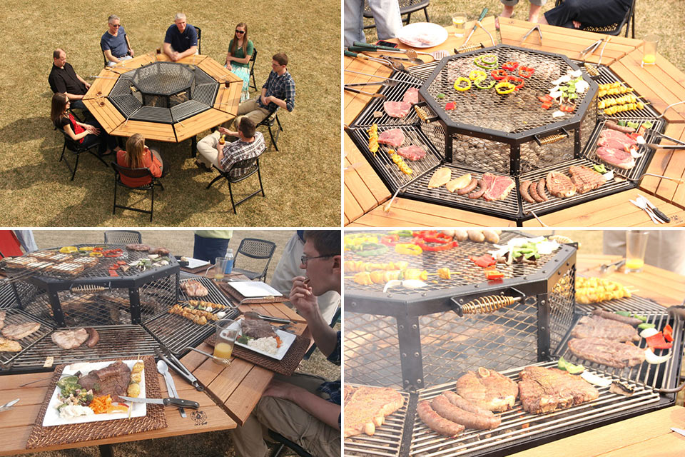Gardens chairs and the o 39 jays on pinterest - Table barbecue integre ...