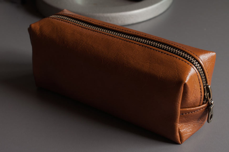 Универсальный кожаный пенал Mahogany Pencil Case