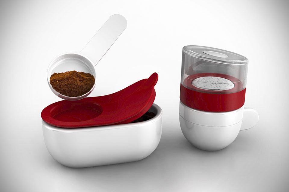 Миниатюрная эспрессо-машина Piamo для микроволновки