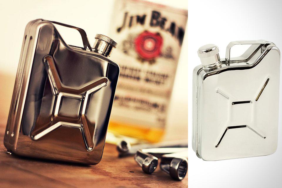 Стальная фляга Jerry Can Hip Flask в форме бензиновой канистры