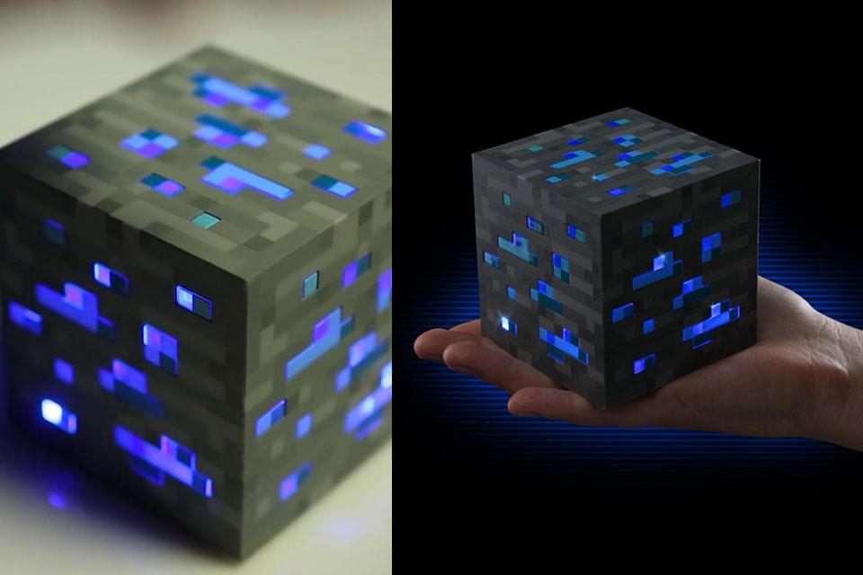 Светильник Minecraft Light-Up в форме алмазной руды