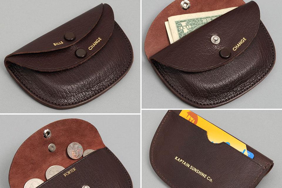 Винтажный кошелек Porter & Co Round Wallet
