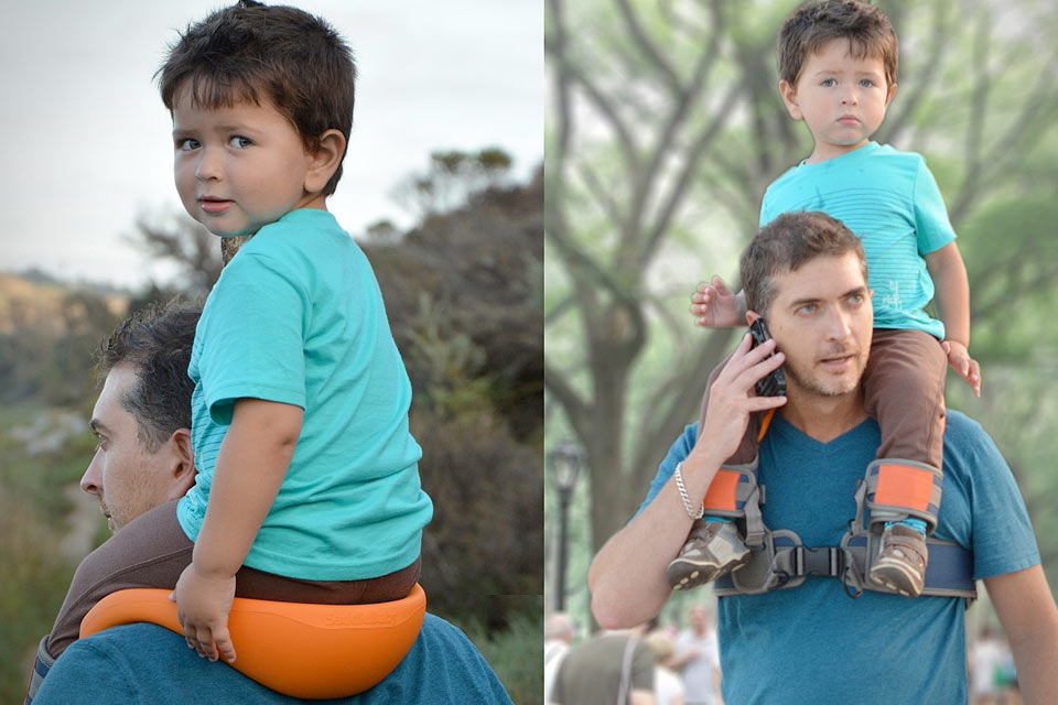 Приспособление для переноски детей на плечах Saddle Baby