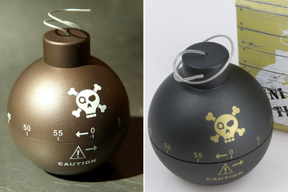 Кухонный таймер Time Bomb в форме старой бомбы