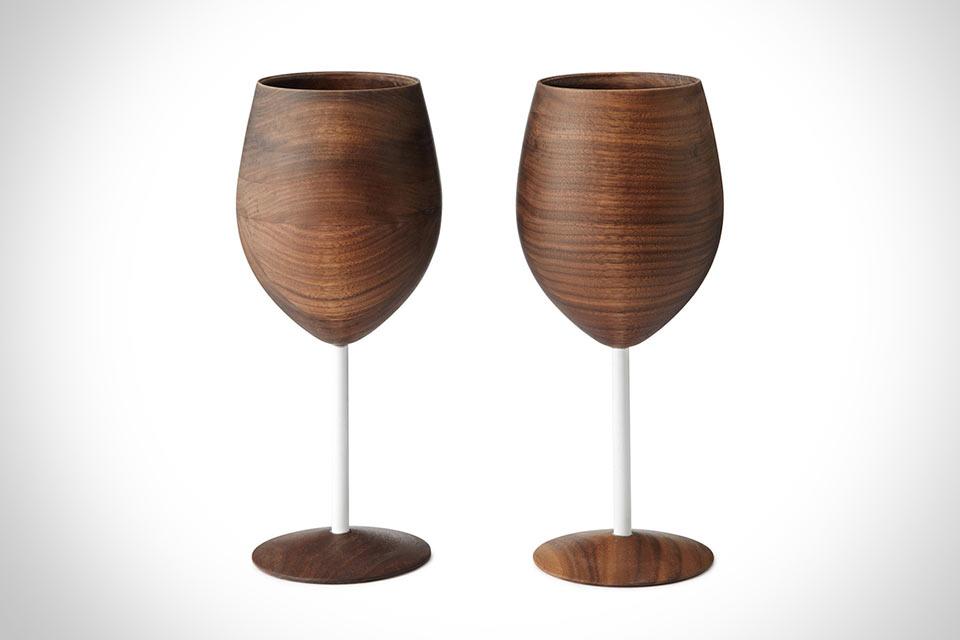 Деревянные бокалы Wooden Wine Glasses