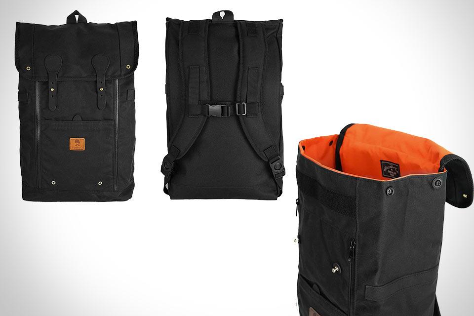 Классический Рюкзак Babylon Backpack из кожи и вощеного хлопка