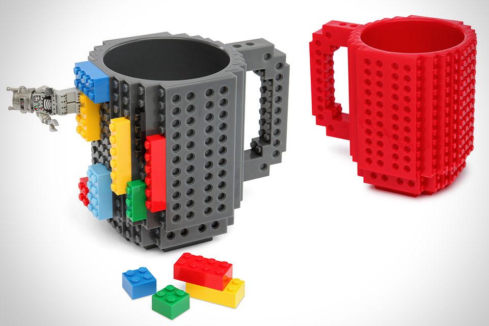 Кружка Build-On Brick Mug в стиле Lego