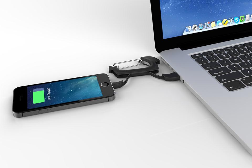 Зарядный кабель NomadClip в форме карабина