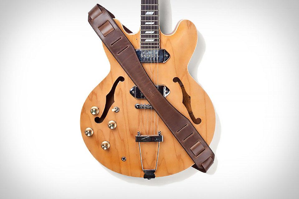 Кожаный ремень Tanner Goods Troubadour для гитары