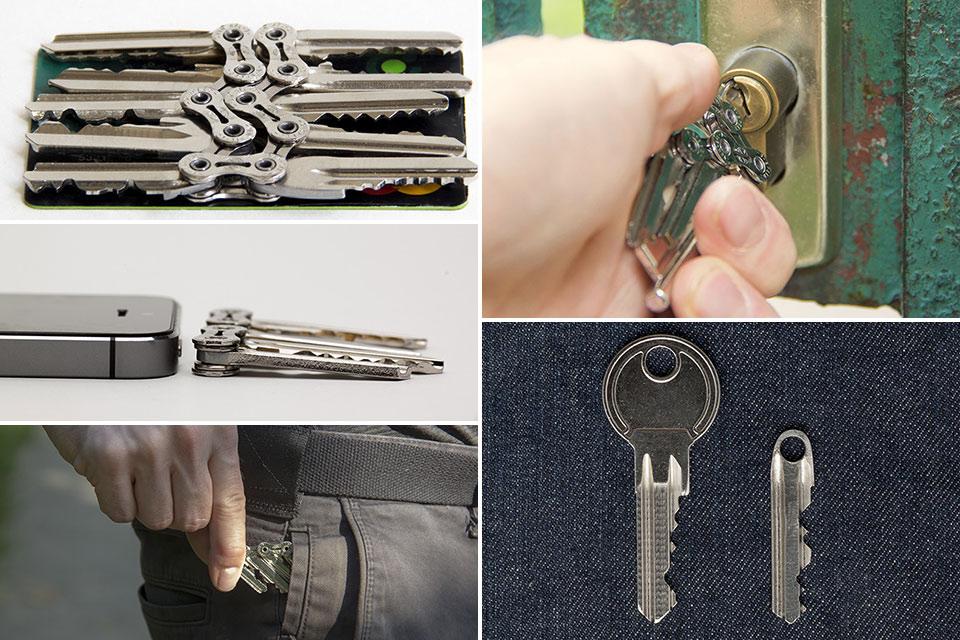 Кольцо для ключей Tik Keychain из велоцепи