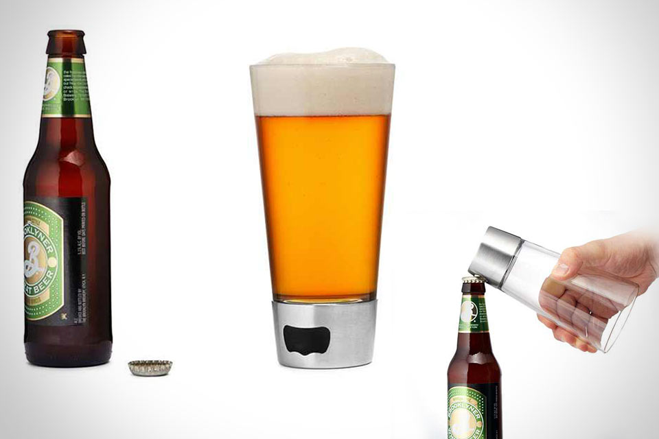 Пивной стакан с открывашкой Beer Opening Glass