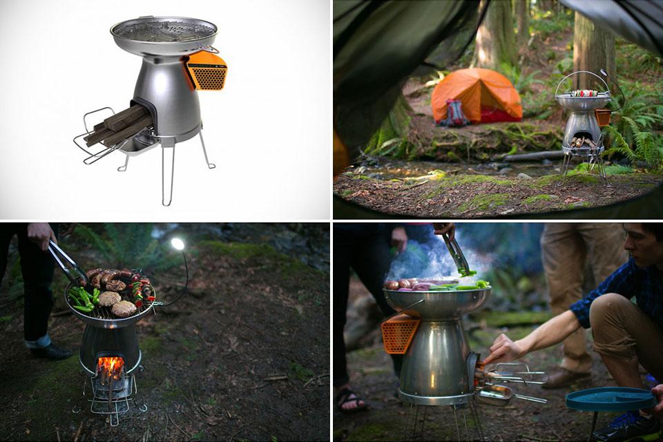 Портативная гриль-печка BioLite BaseCamp Stove для походов
