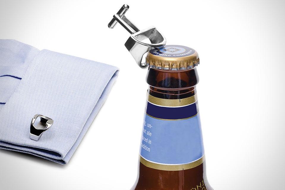 Запонки French Cuff Bottle Openers с открывашкой